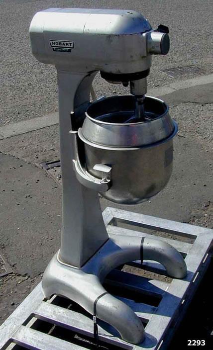 Novatech :: Hobart A200 change pan mixer - Stock Ref 2293 | Change