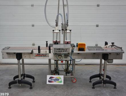 Novatech Stock 3979 Framax 2 head liquid filling machine
