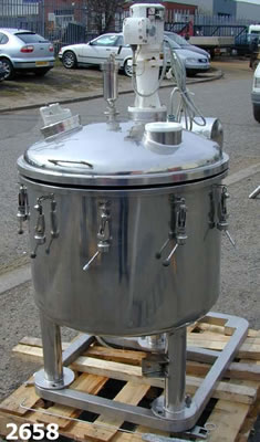 Stainless steel mixing vessel 270 litres