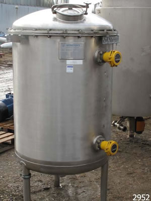 WEBSTERS stainless steel storage vessel, 518 litres