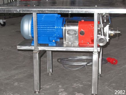 SSP stainless steel rotary lobe pump type 100ND