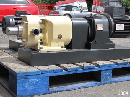 SSP lobe pump model AP150/BS, with 316 st.stl contact parts