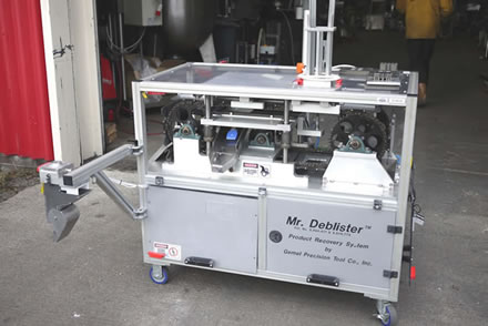 MR DEBLISTER high speed semi automatic product recovery syst