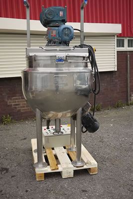 GIUSTI hemispherical process vessel 250L