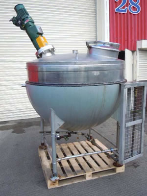 GIUSTI hemispherical mixing vessel in stainless steel