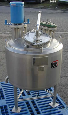 LEE 150 litre jacketed mixing vessel
