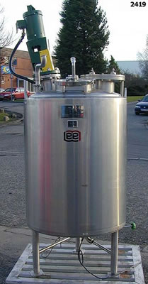 LEE 500 litre jacketed mixing vessel